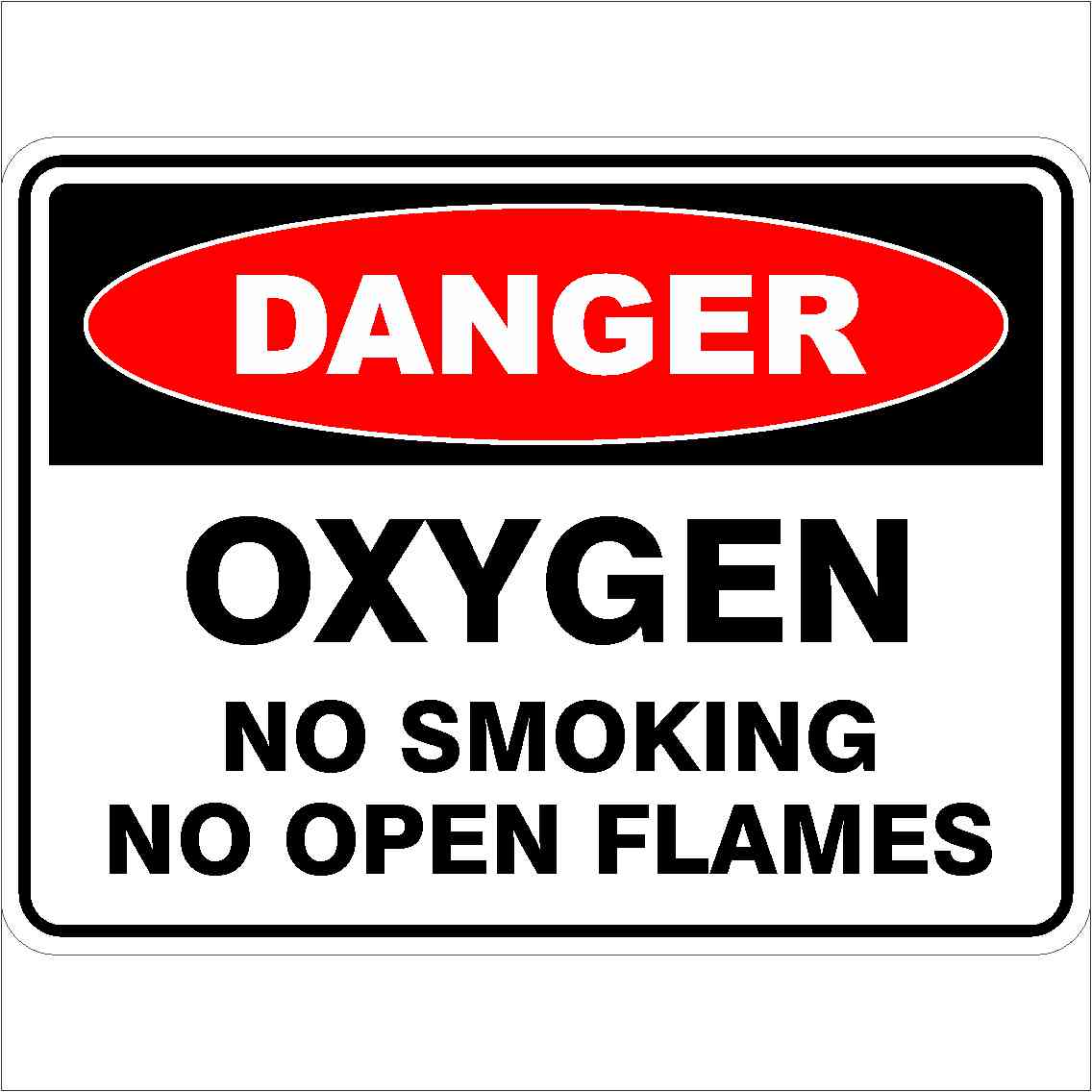 Danger Signs OXYGEN NO SMOKING NO OPEN FLAMES
