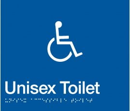 Braille Signs Accessible Toilet Sign DT-BLUE