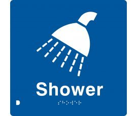 Braille Signs Shower Sign S-BLUE