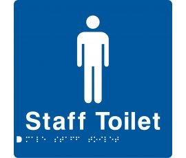 Braille Signs Male Staff Toilet Sign MSffT-BLUE
