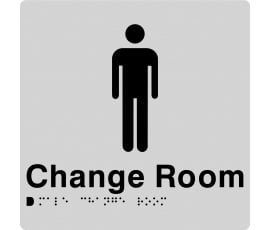 Braille Signs Male Change Room Sign MCR-SILVER