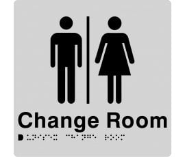 Braille Signs Unisex Change Room Sign MFCR-SILVER