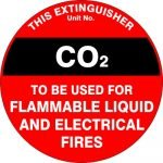 Fire Safety Signs EXTINGUISHER ID MARKER CO2