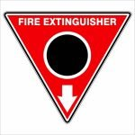 Fire Safety Signs EXTINGUISHER ID MARKER TRI CO2