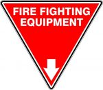 Fire Safety Signs EXTINGUISHER ID MARKER TRI FIRE FIGHTING EQUIPMENT