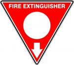 Fire Safety Signs EXTINGUISHER ID MARKER TRI POWDER