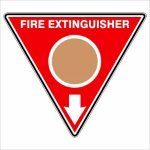 Fire Safety Signs EXTINGUISHER ID MARKER TRI WET CHEMICAL