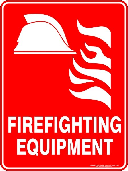 Fire Safety Signs FIREFIGHTING EQUIPMENT