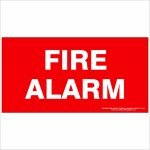 Fire Safety Signs FIRE ALARM 350