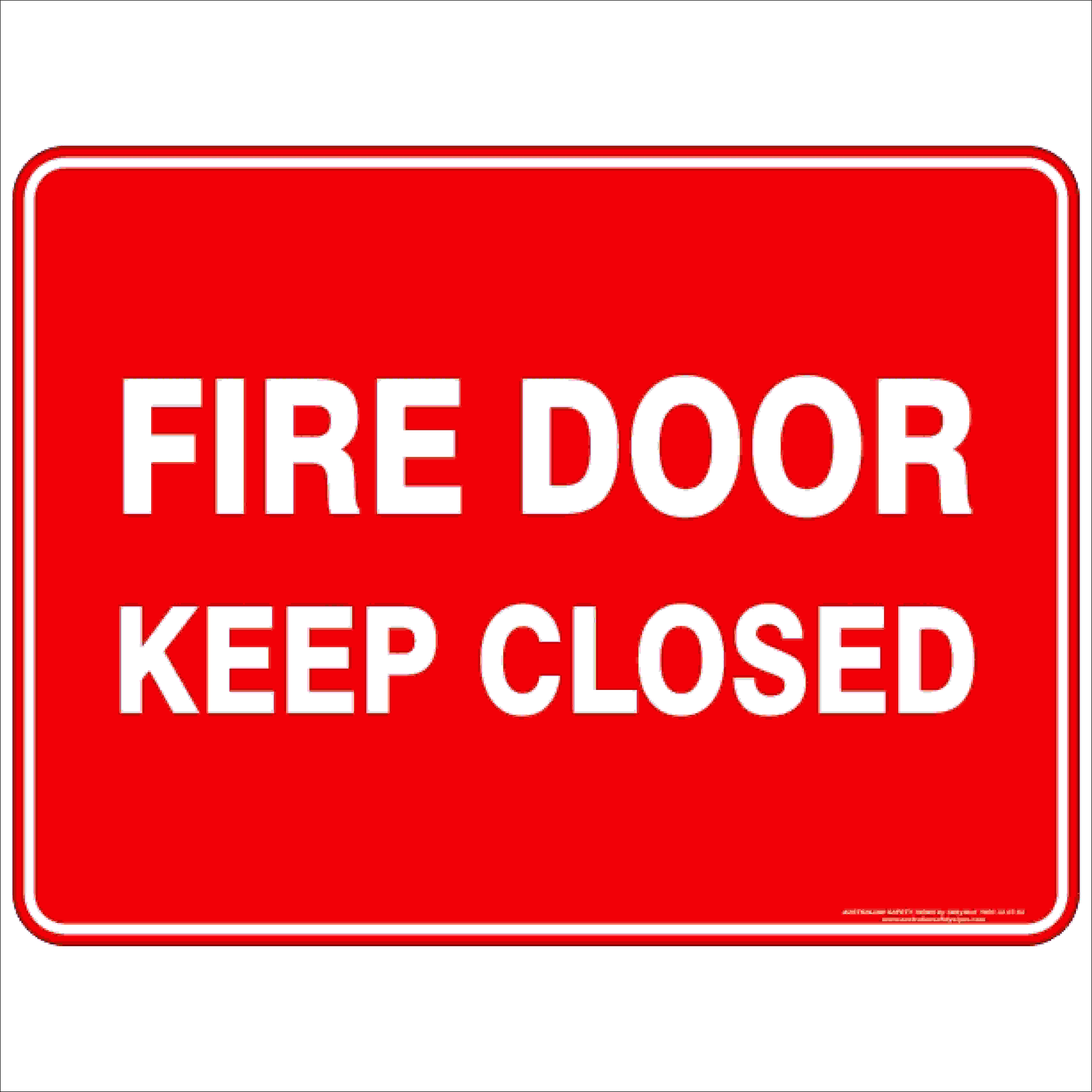 Fire Safety Signs FIRE DOOR KEEP CLOSED