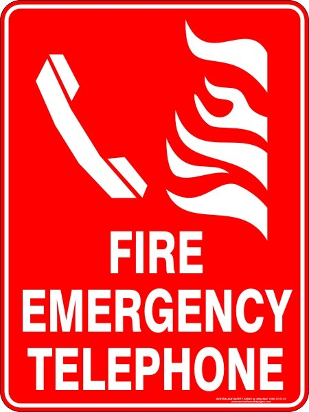Fire Safety Signs FIRE EMERGENCY TELEPHONE