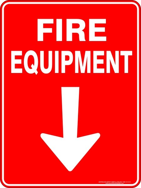 Fire Safety Signs FIRE EQUIPMENT ARROW