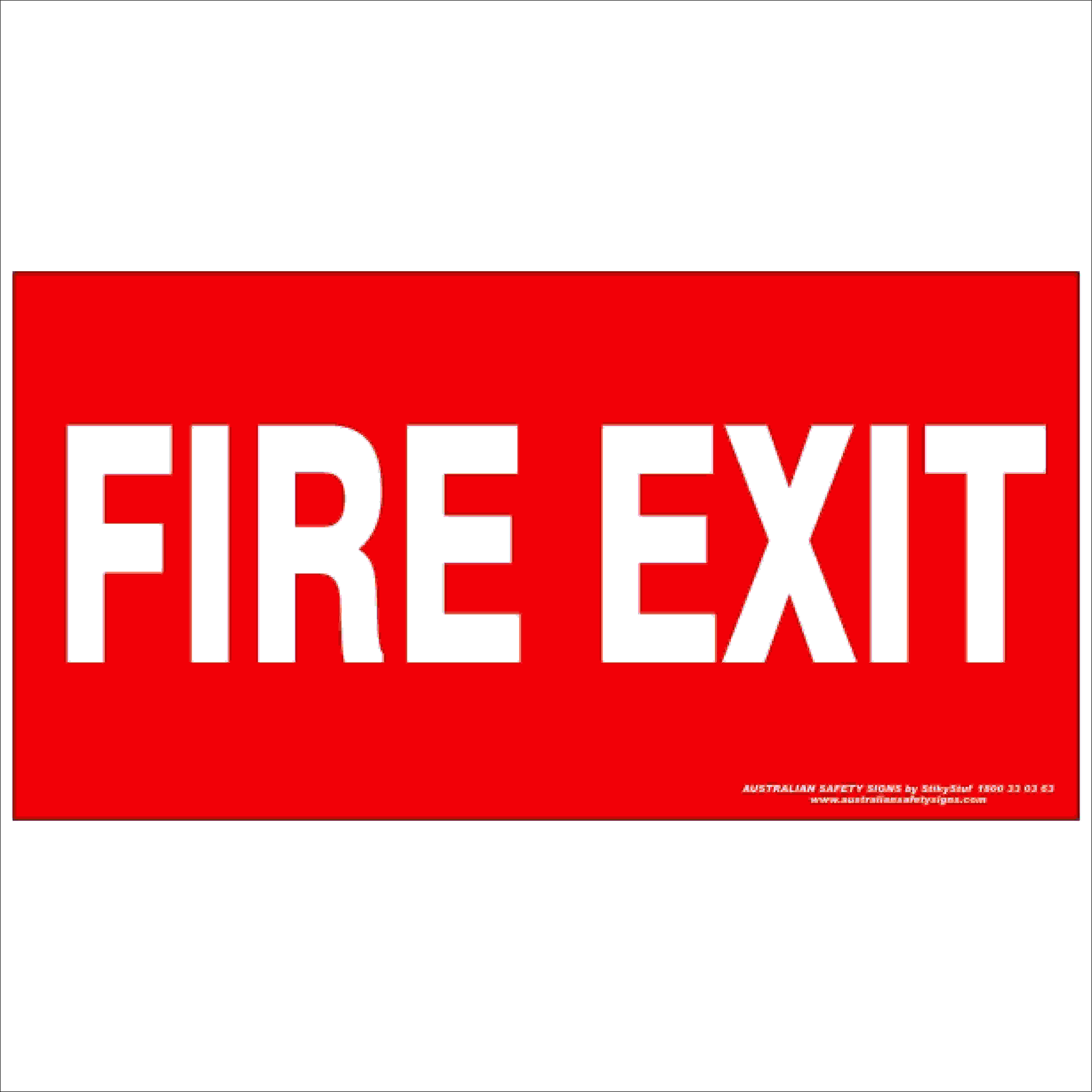 Fire Safety Signs FIRE EXIT 350