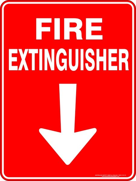 Fire Safety Signs FIRE EXTINGUISHER ARROW