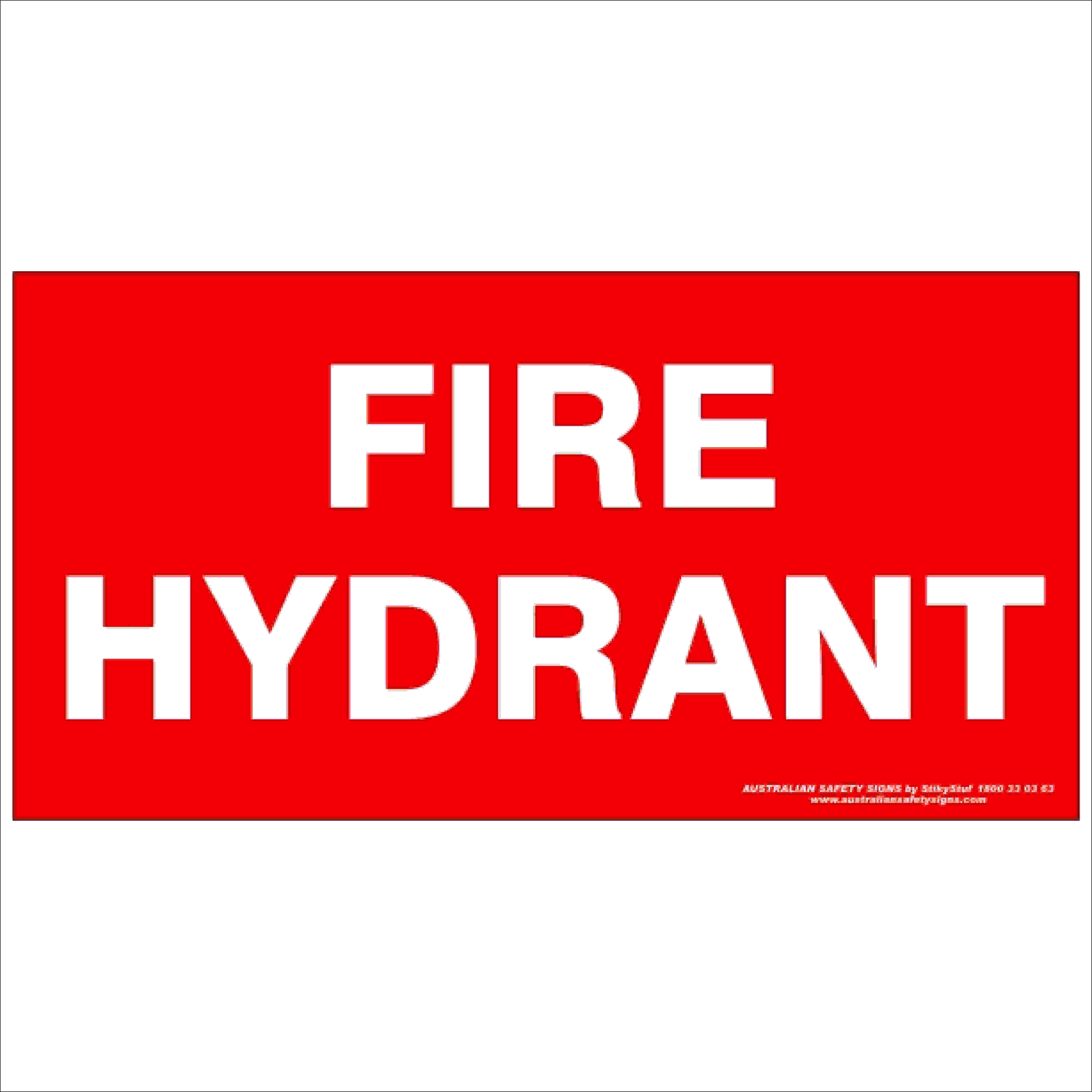 Fire Safety Signs FIRE HYDRANT 350