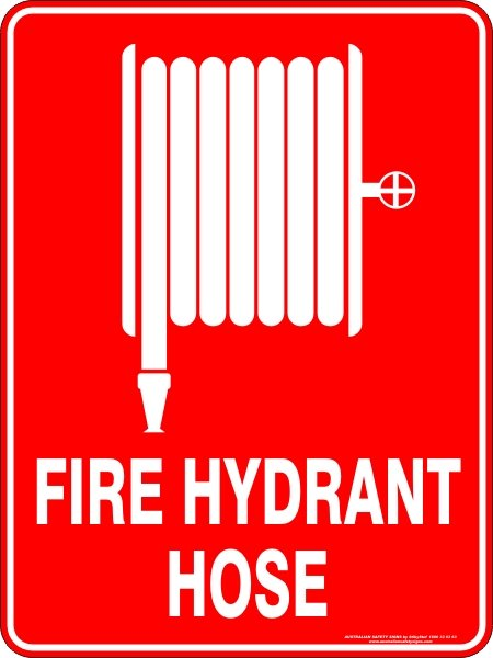 Fire Safety Signs FIRE HYDRANT HOSE
