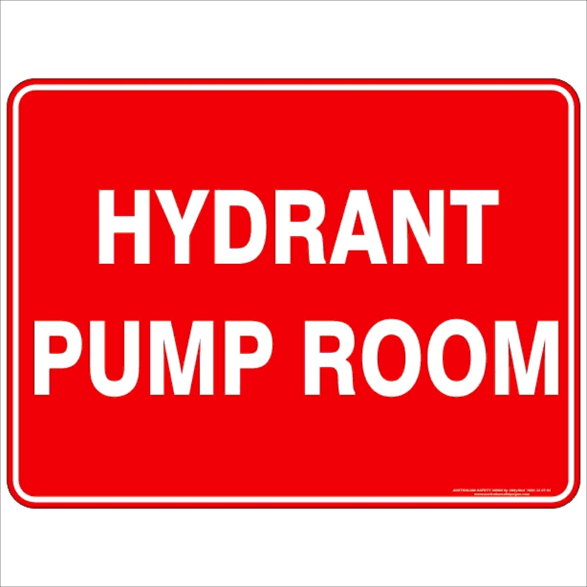 Fire Safety Signs HYDRANT PUMP ROOM
