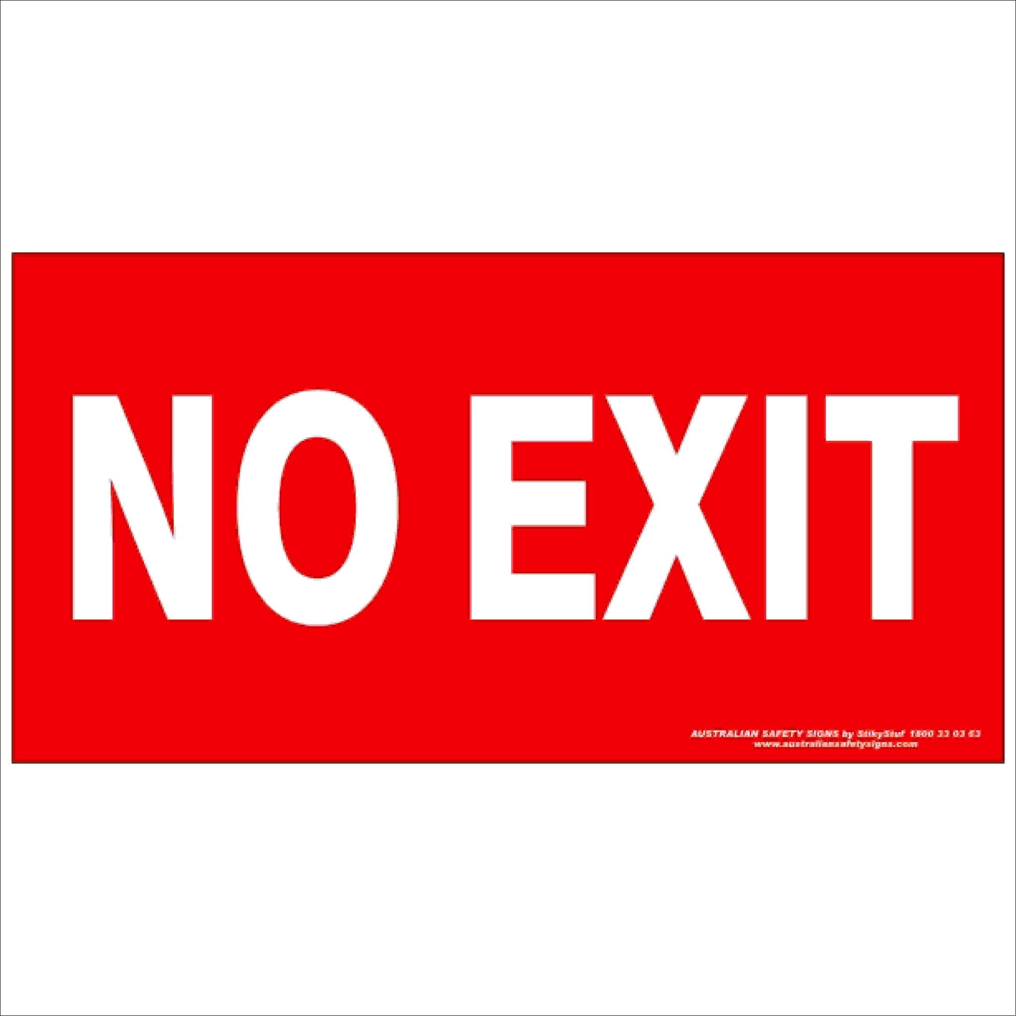 Fire Safety Signs NO EXIT 350