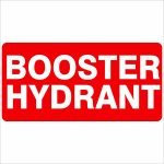 Fire Safety Signs BOOSTER HYDRANT