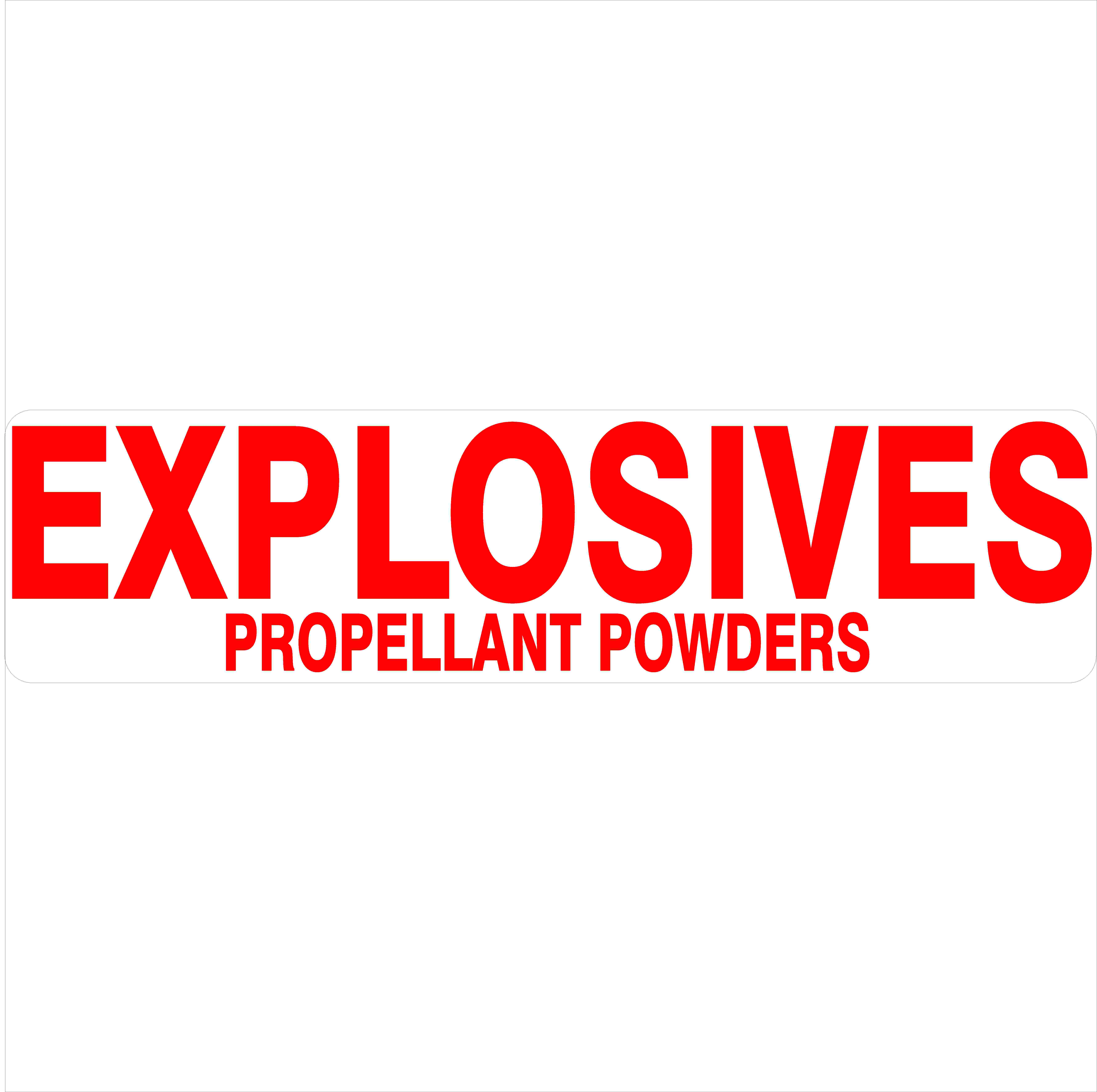 Hazchem Signs EXPLOSIVES PROPELLANT POWDERS
