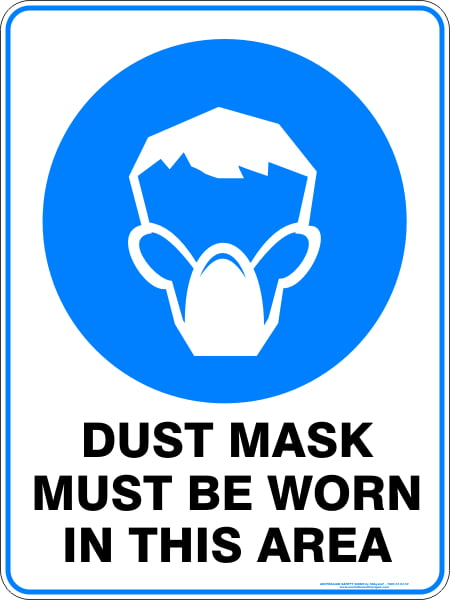 Mandatory Signs DUST MASK MUST BE WORN IN THIS AREA