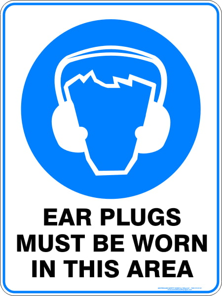 Mandatory Signs EAR PLUGS MUST BE WORN