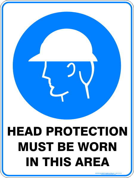 Mandatory Signs HEAD PROTECTION MUST BE WORN