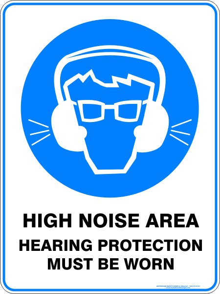 Mandatory Signs HIGH NOISE AREA HEARING PROTECTION MUST BE WORN