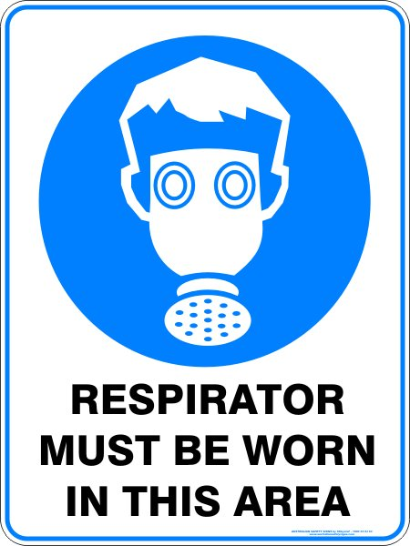 Mandatory Signs RESPIRATOR MUST BE WORN