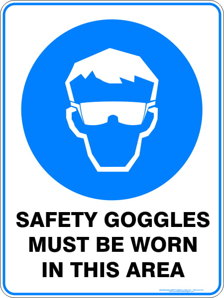 Mandatory Signs SAFETY GOGGLES MUST BE WORN