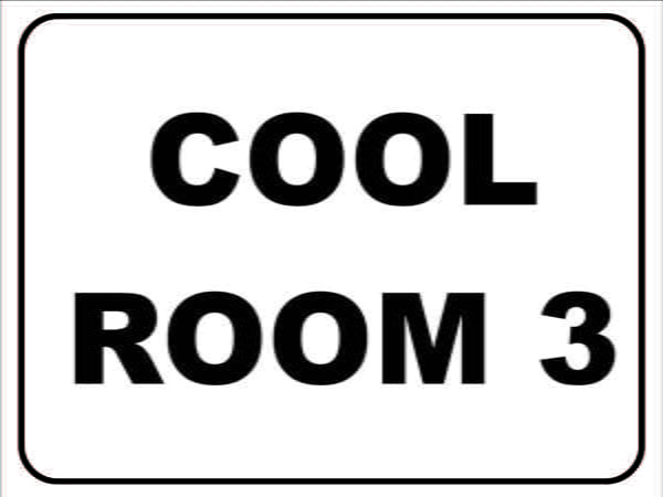 Miscellaneous Signs COOL ROOM 3