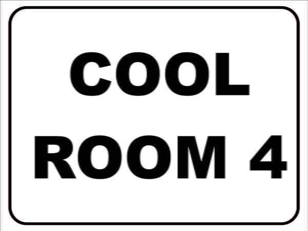 Miscellaneous Signs COOL ROOM 4