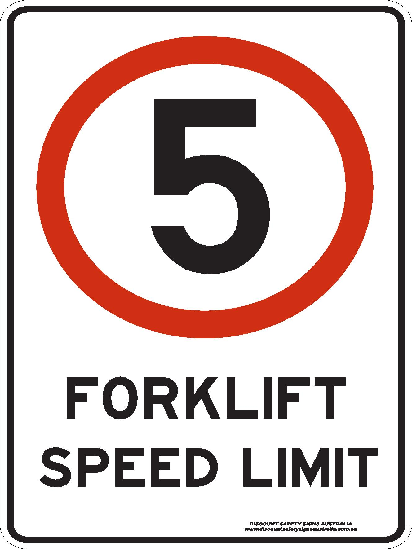 Traffic Signs FORKLIFT SPEED LIMIT 5KM