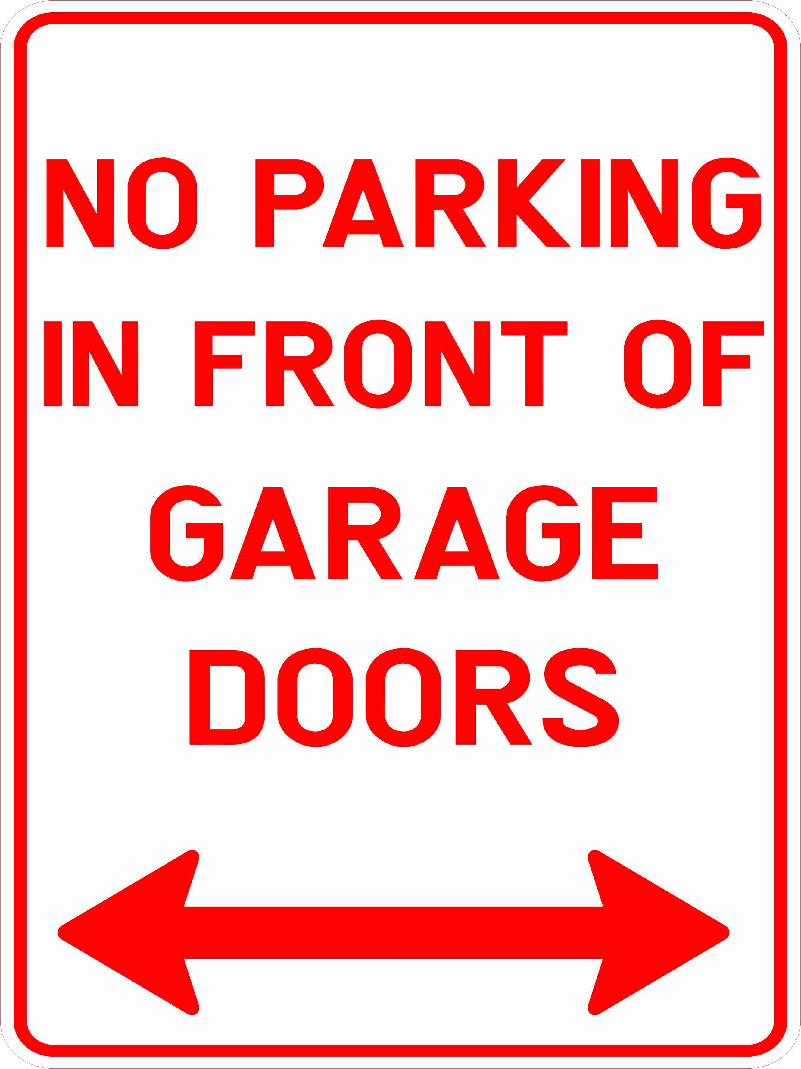 No parking in front of garage doors discount safety for Garage door repair round lake il