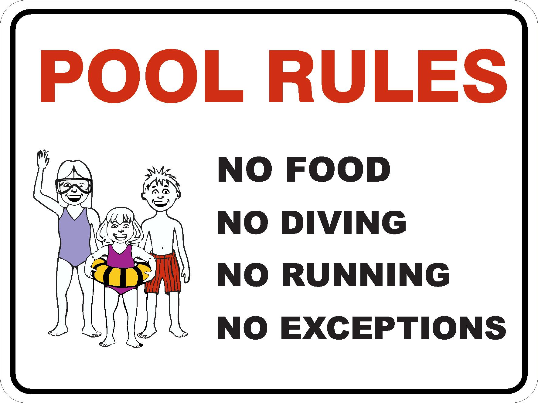Pool Safety Signs POOL RULES