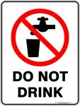 Prohibition Signs DO NOT DRINK