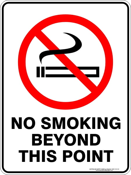 Prohibition Signs NO SMOKING BEYOND THIS POINT