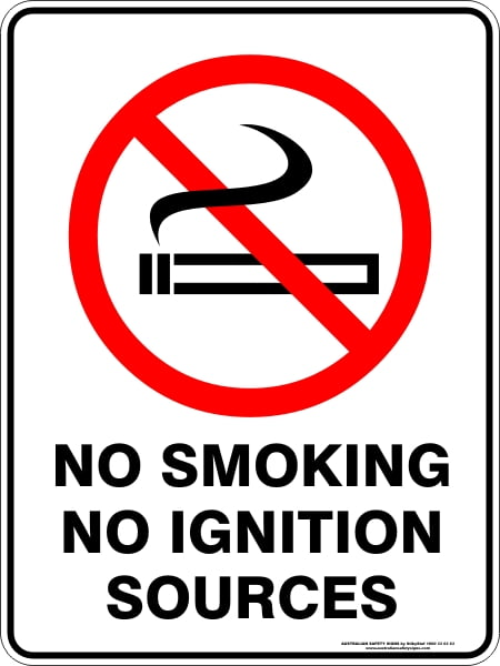 Prohibition Signs NO SMOKING NO IGNITION SOURCES