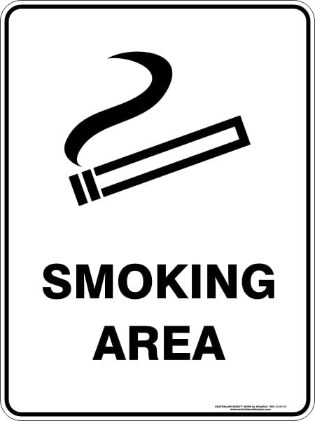 Prohibition Signs SMOKING AREA