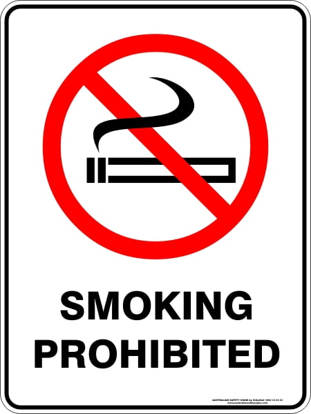 Prohibition Signs SMOKING PROHIBITED