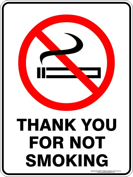 Prohibition Signs THANK YOU FOR NOT SMOKING