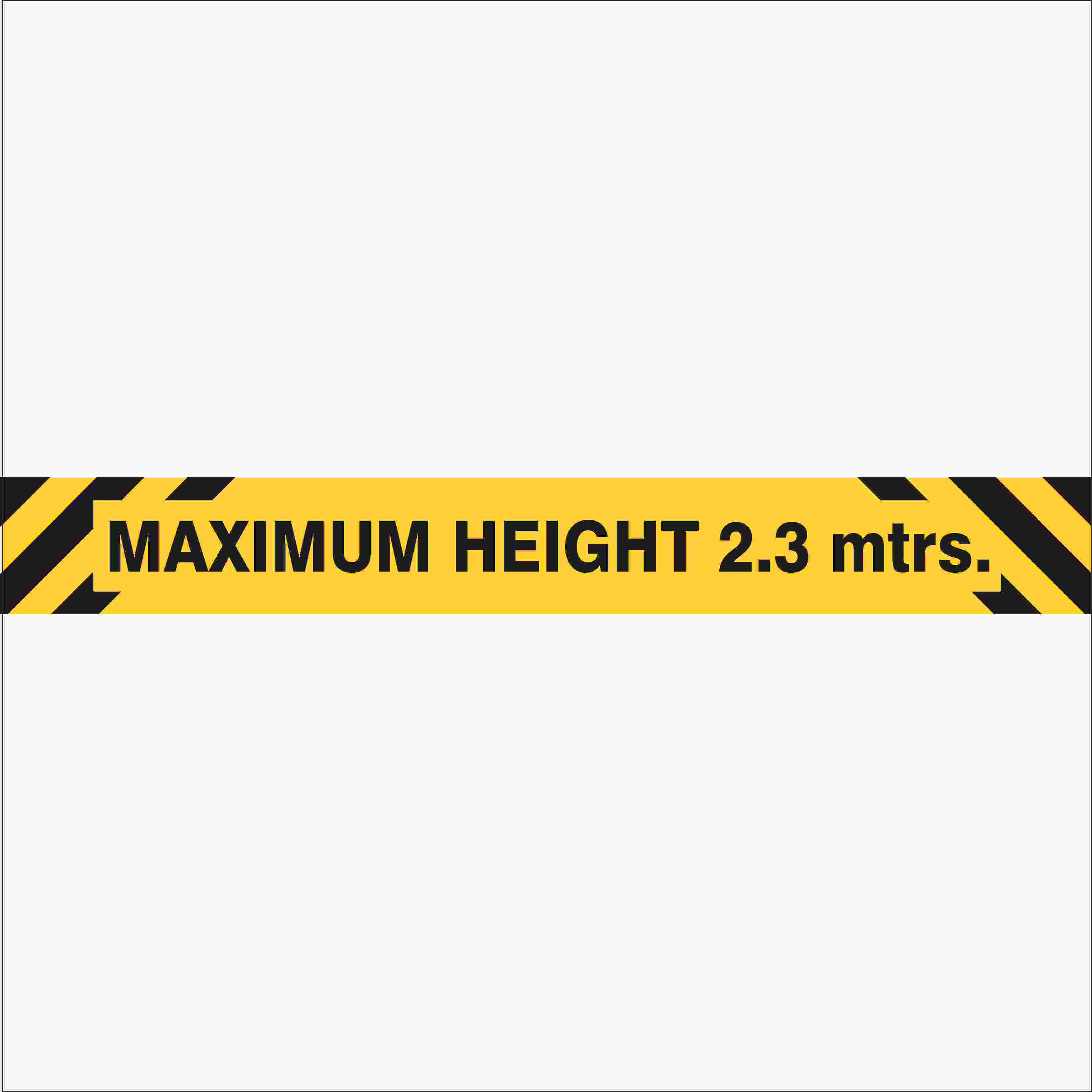 Parking Signs MAXIMUM HEIGHT OVERHEAD SIGN