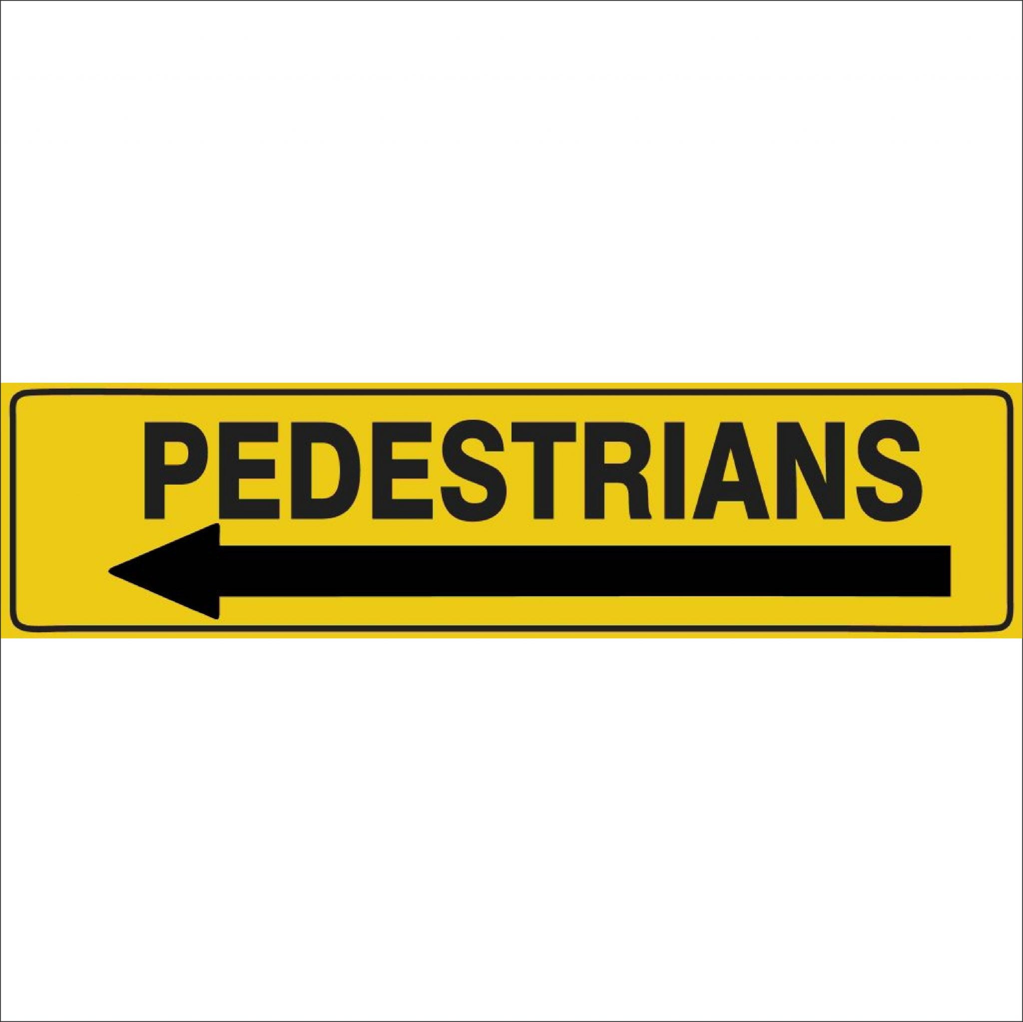 Traffic Signs PEDESTRIANS (ARROW LEFT)