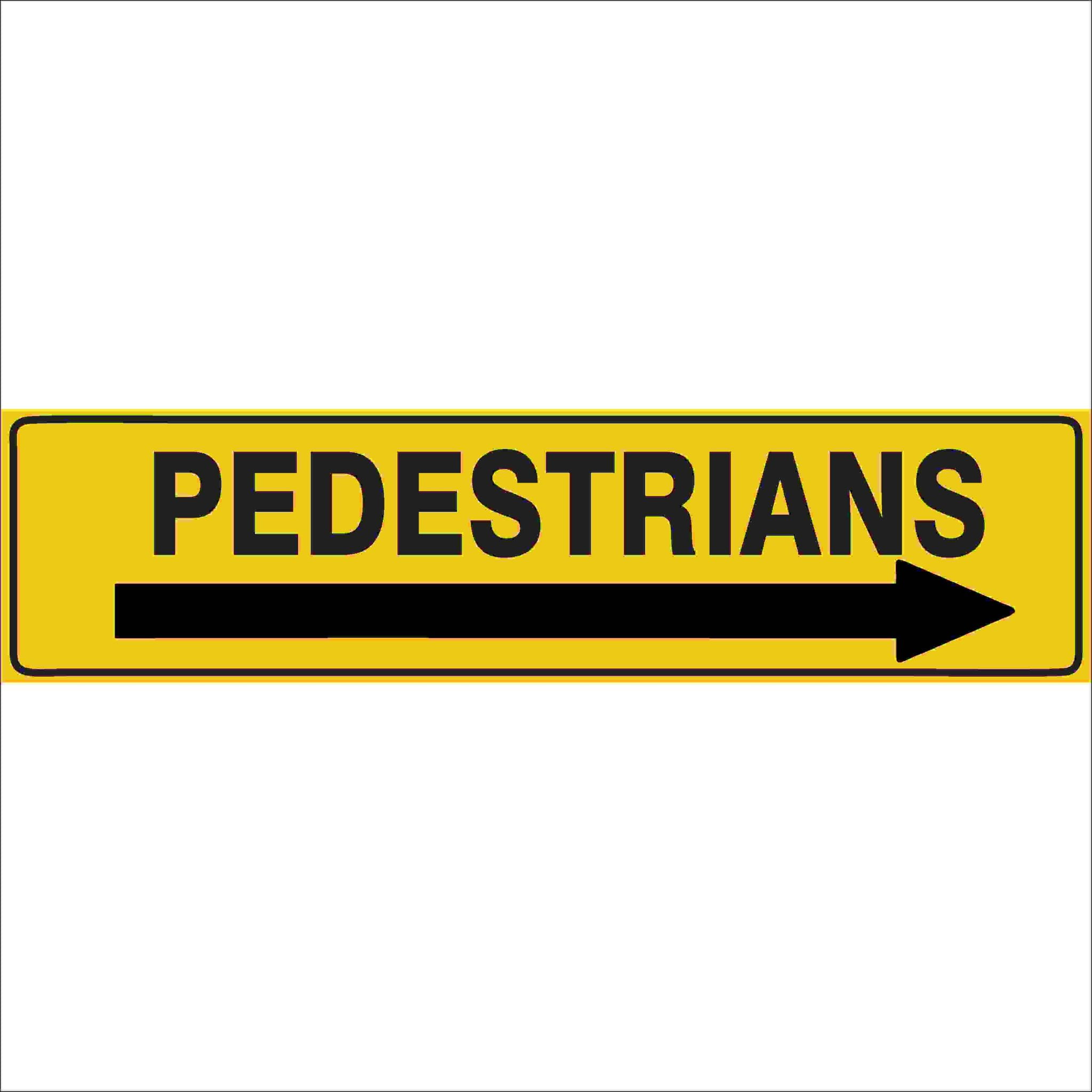 Traffic Signs PEDESTRIANS (ARROW RIGHT)