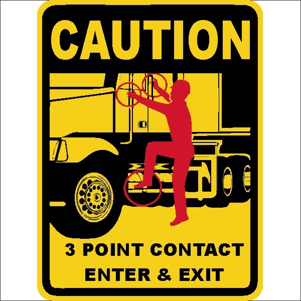 Point Of Contact: 3 POINT CONTACT ENTER & EXIT