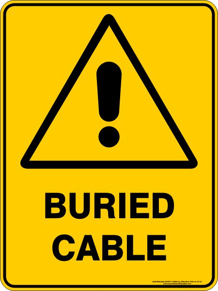 Warning Signs BURIED CABLE