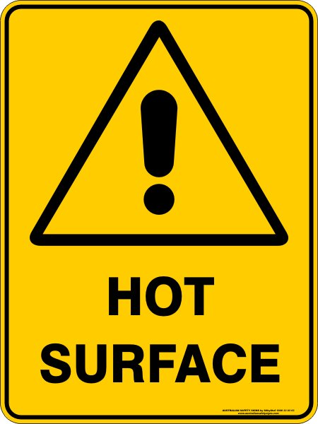 Warning Signs HOT SURFACE