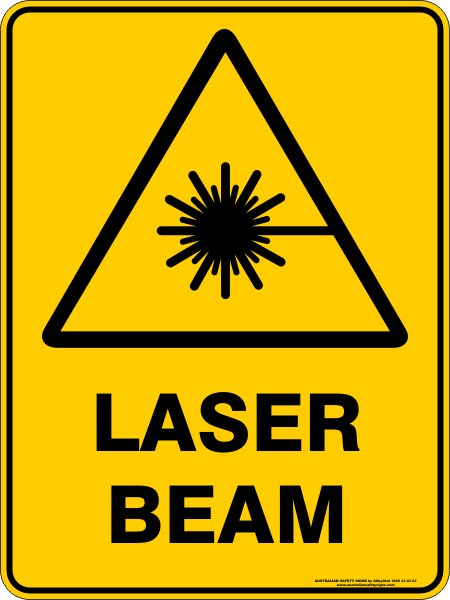 Warning Signs LASER BEAM
