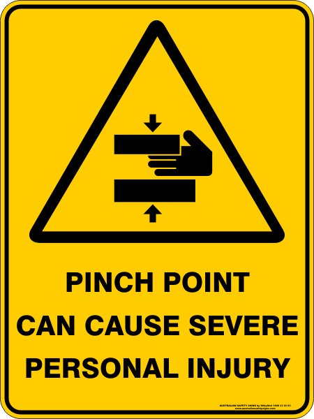 Warning Signs PINCH POINT CAN CAUSE SEVERE PERSONAL INJURY