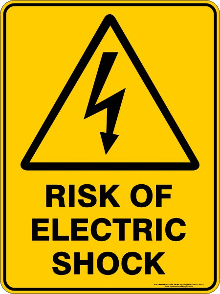 Warning Signs RISK OF ELECTRIC SHOCK